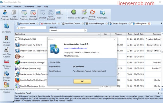 Revo Uninstaller Pro Full Crack + Serial Key Free Download