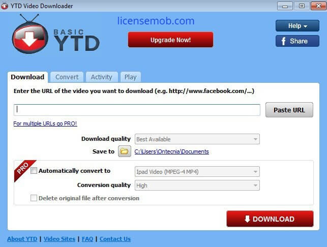 YTD Video Downloader Pro Crack With Serial Key Full Latest